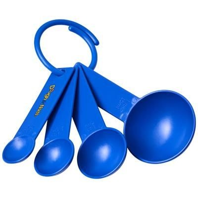 Picture of NESS PLASTIC MEASURING SPOON SET with 4 Sizes in Blue