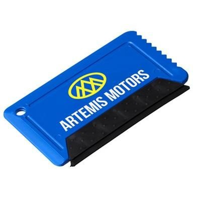 Picture of FREEZE CREDIT CARD SIZED ICE SCRAPER with Rubber in Blue