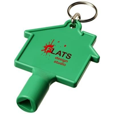 Picture of MAXIMILIAN HOUSE-SHAPED METERBOX KEY with Keyring Chain in Green