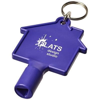 Picture of MAXIMILIAN HOUSE-SHAPED METERBOX KEY with Keyring Chain in Purple