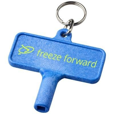 Picture of LARGO PLASTIC RADIATOR KEY with Keyring Chain in Blue