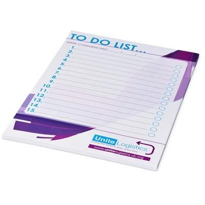 Picture of DESK-MATE® A5 NOTE PAD in White Solid