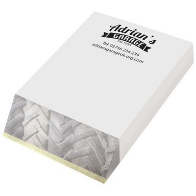 Picture of WEDGE-MATE® A7 NOTE PAD in White Solid