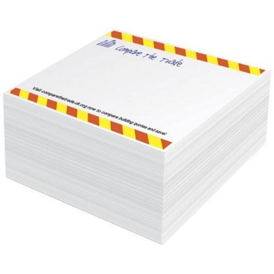 Picture of BLOCK-MATE® 1C SMALL MEMO CUBE BLOCK 100X100 in White Solid