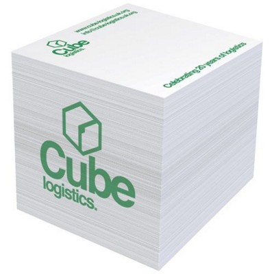 Picture of BLOCK-MATE 4A LARGE MEMO CUBE BLOCK 55X55 in White Solid