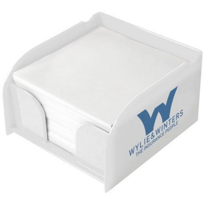 Picture of VESSEL MEMO CUBE BLOCK INSERT AND MEMO PAPER in White Solid