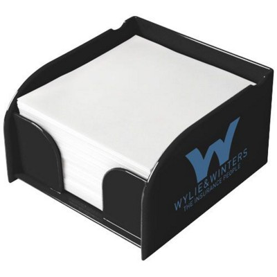 Picture of VESSEL MEMO CUBE BLOCK INSERT AND MEMO PAPER in Black Solid