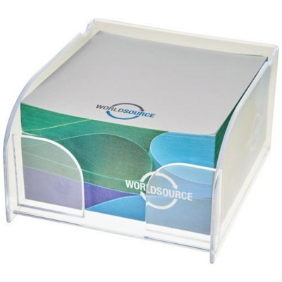Picture of VESSEL MEMO CUBE BLOCK INSERT AND MEMO PAPER in Transparent Clear Transparent