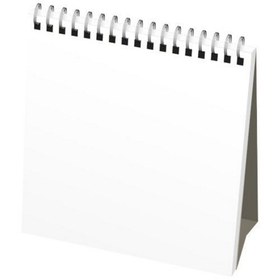 Picture of CLASSIC MONTHLY DESK TOP CALENDAR SOFT COVER in White Solid