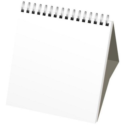 Picture of CLASSIC MONTHLY DESK TOP CALENDAR HARD COVER in White Solid