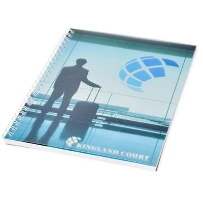 Picture of DESK-MATE® WIRE-O A5 NOTE BOOK PP COVER in White Solid