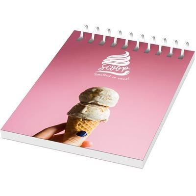 Picture of DESK-MATE® WIRE-O A7 NOTE BOOK PP COVER in White Solid