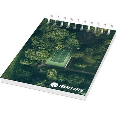 Picture of DESK-MATE® WIRE-O A7 NOTE BOOK in White Solid