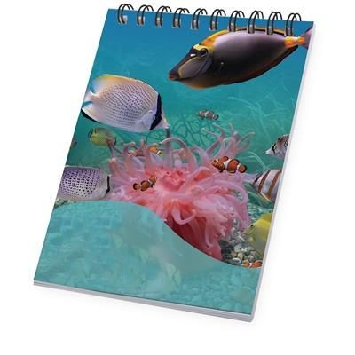 Picture of DESK-MATE® WIRE-O A7 NOTE BOOK in White Solid-black Solid