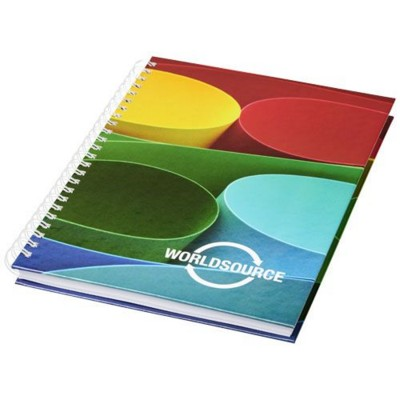 Picture of WIRE-O A4 NOTE BOOK HARD COVER in White Solid