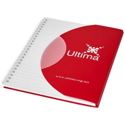 Picture of CURVE A5 NOTE BOOK in Red-white Solid