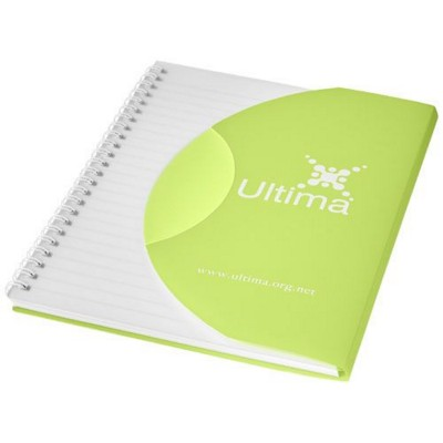 Picture of CURVE A5 NOTE BOOK in Frosted Green-white Solid