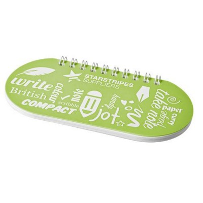 Picture of CAPSULE NOTE BOOK in Lime-white Solid