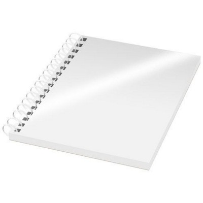 Picture of DESK-MATE® A6 NOTE BOOK SYNTHETIC COVER in White Solid