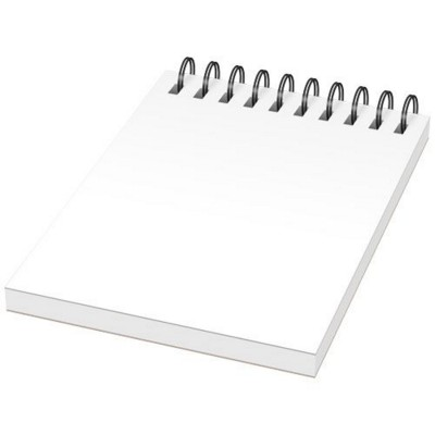 Picture of DESK-MATE® A7 NOTE BOOK SYNTHETIC COVER in White Solid-black Solid