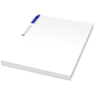 Picture of ESSENTIAL CONFERENCE PACK A5 NOTE PAD AND PEN in White Solid-blue