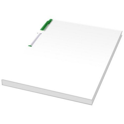 Picture of ESSENTIAL CONFERENCE PACK A5 NOTE PAD AND PEN in White Solid-green