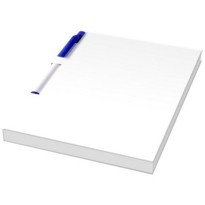 Picture of ESSENTIAL CONFERENCE PACK A6 NOTE PAD AND PEN in White Solid-blue