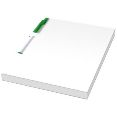 Picture of ESSENTIAL CONFERENCE PACK A6 NOTE PAD AND PEN in White Solid-green