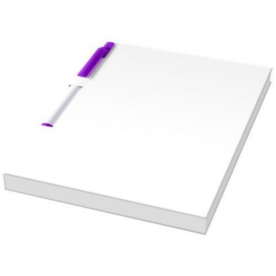 Picture of ESSENTIAL CONFERENCE PACK A6 NOTE PAD AND PEN in White Solid-purple