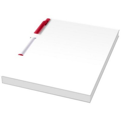 Picture of ESSENTIAL CONFERENCE PACK A6 NOTE PAD AND PEN in White Solid-red