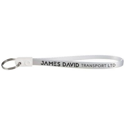 Picture of AD-LOOP ® JUMBO KEYRING CHAIN in White Solid