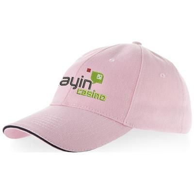 Picture of CHALLENGE 6 PANEL SANDWICH CAP in Pink