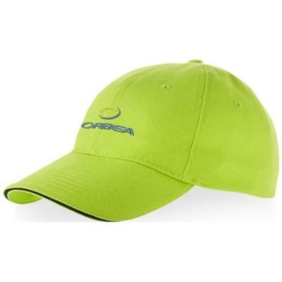 Picture of CHALLENGE 6 PANEL SANDWICH CAP in Apple Green