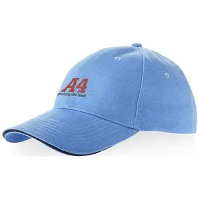 Picture of CHALLENGE 6 PANEL SANDWICH CAP in Light Blue