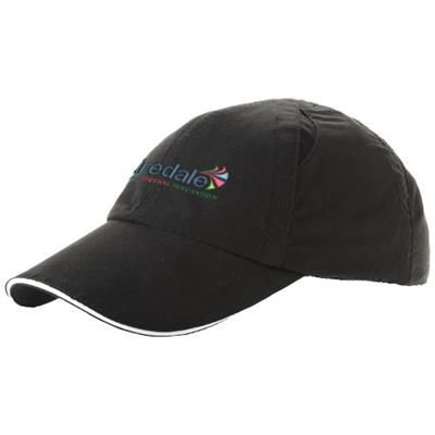 Picture of ALLEY 6 PANEL COOL FIT SANDWICH CAP in Black Solid