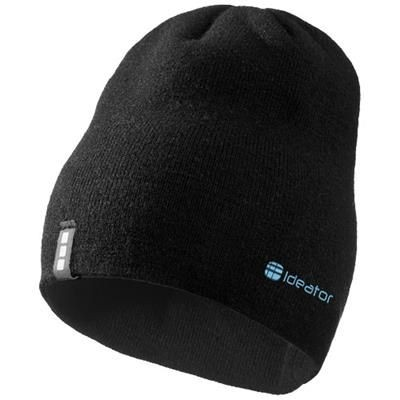 Picture of LEVEL BEANIE in Black Solid