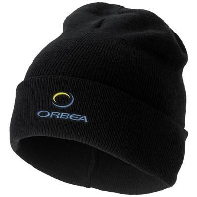 Picture of IRWIN BEANIE in Black Solid