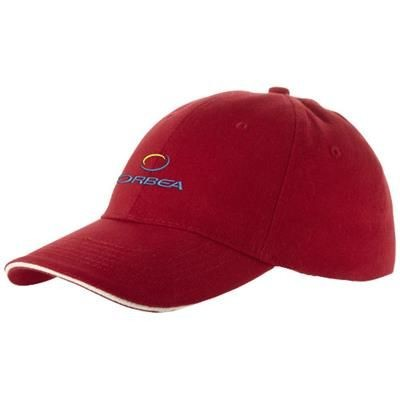 Picture of CHALLENGE 6 PANEL SANDWICH CAP in Red