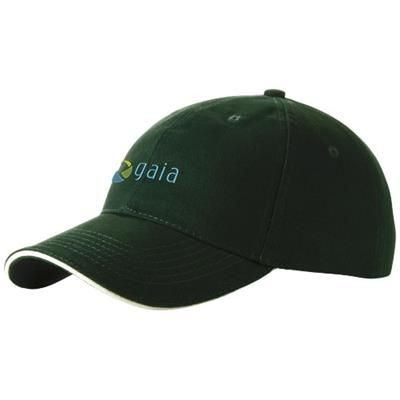 Picture of CHALLENGE 6 PANEL SANDWICH CAP in Green