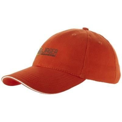 Picture of CHALLENGE 6 PANEL SANDWICH CAP in Orange