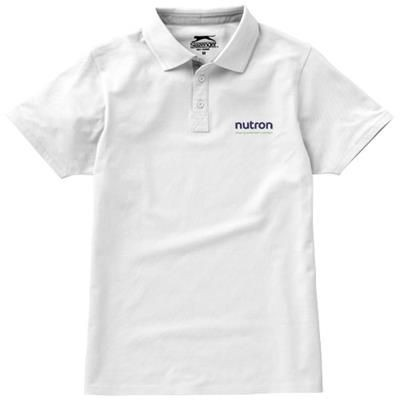 Picture of HACKER SHORT SLEEVE POLO in White Solid