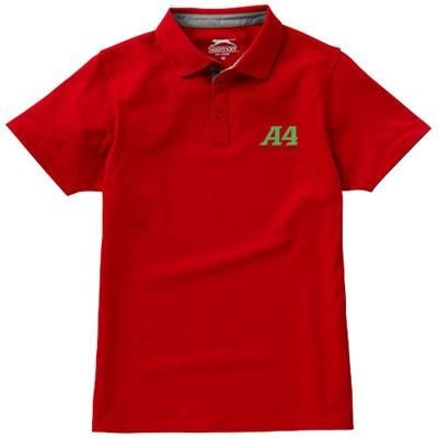 Picture of HACKER SHORT SLEEVE POLO in Red