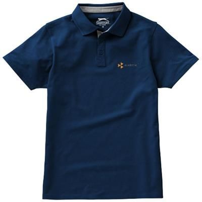Picture of HACKER SHORT SLEEVE POLO in Navy