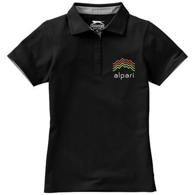 Picture of HACKER SHORT SLEEVE LADIES POLO in Black Solid