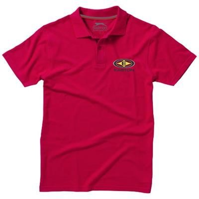 Picture of ADVANTAGE SHORT SLEEVE MENS POLO in Red