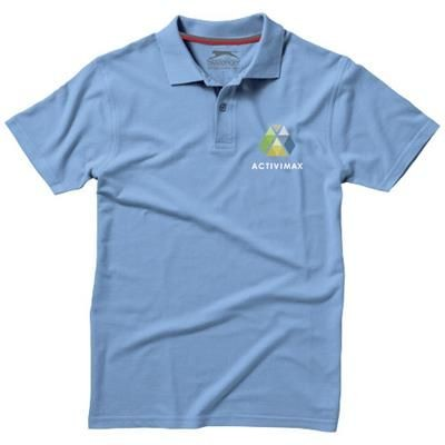 Picture of ADVANTAGE SHORT SLEEVE MENS POLO in Light Blue