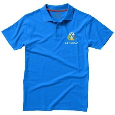 Picture of ADVANTAGE SHORT SLEEVE POLO in Light Blue