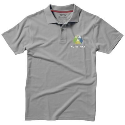 Picture of ADVANTAGE SHORT SLEEVE MENS POLO in Grey