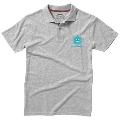 Picture of ADVANTAGE SHORT SLEEVE MENS POLO in Grey Melange
