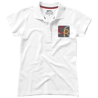 Picture of ADVANTAGE SHORT SLEEVE LADIES POLO in White Solid